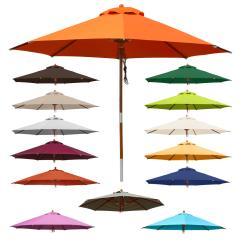 Sonnenschirm 3 m rund - Gartenschirm Marktschirm