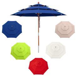 Sonnenschirm 3 m rund - Design Schirm Mehrlagig
